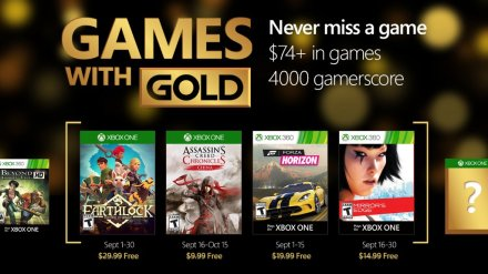 Games With Gold Sept 2016